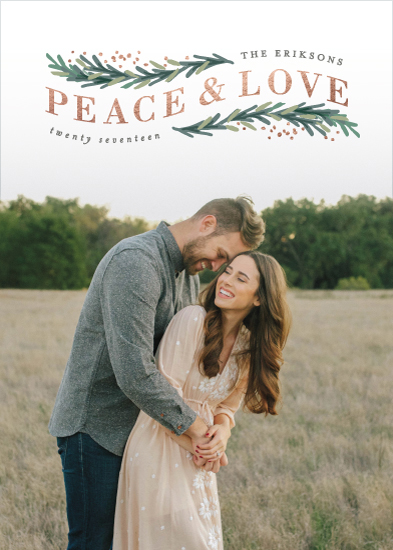 holiday photo cards - Peace & Love Arch by Hooray Creative