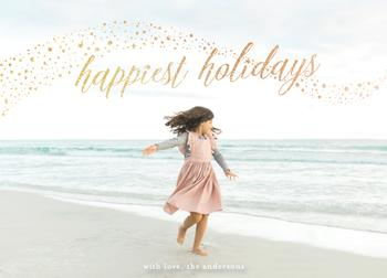 shimmery happy holidays