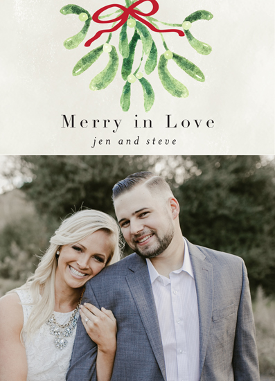 holiday photo cards - Merry and in Love by Chris Griffith