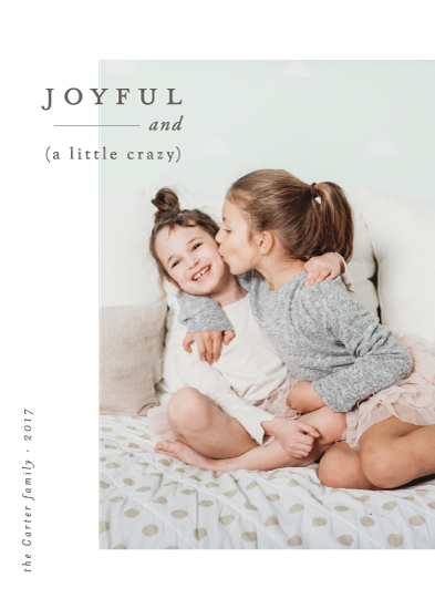 holiday photo cards - Joyful and Crazy by Nikkol Christiansen