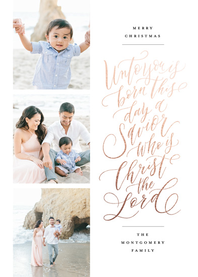 holiday photo cards - Unto Us A Savior by Wildfield Paper Co.