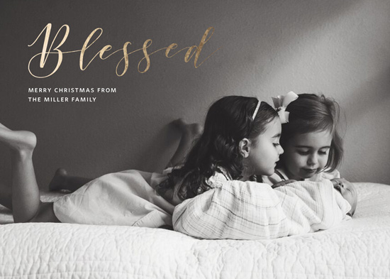 holiday photo cards - Simply Blessed by Nicoletta Savod