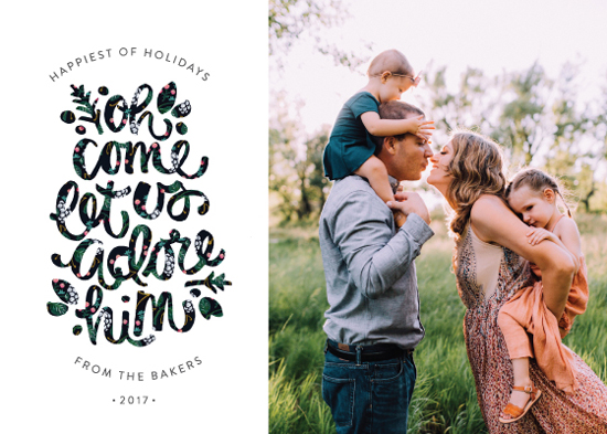 holiday photo cards - Adore Him by JeAnna Casper