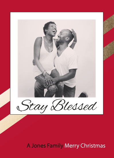 holiday photo cards - Stay Blessed by Cartez