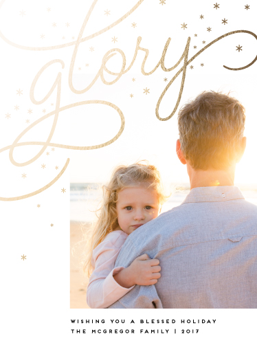 holiday photo cards - Golden Glory by Maria Hilas Louie