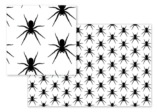 fabric - Crawling Spiders by Rose Pajaroja