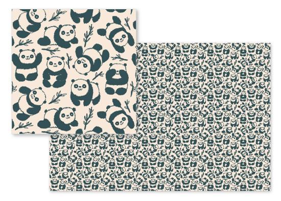 fabric - Pandas by Igor