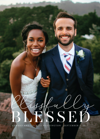 holiday photo cards - Blissfully Blessed by fatfatin