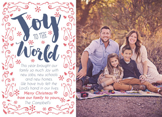 holiday photo cards - Joy to the World Holiday Card by Kim Miller