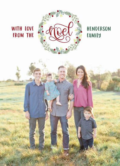 holiday photo cards - Simple Noel Wreath by Jordyn Alison Designs