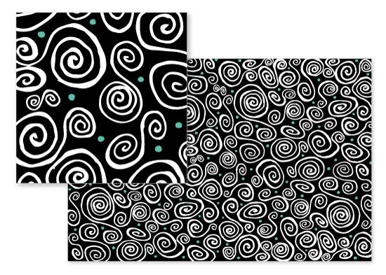 fabric - Spiral Fun by Katy Fishman