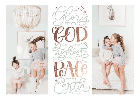 holiday photo cards - Peace and Glory by Leah Bisch