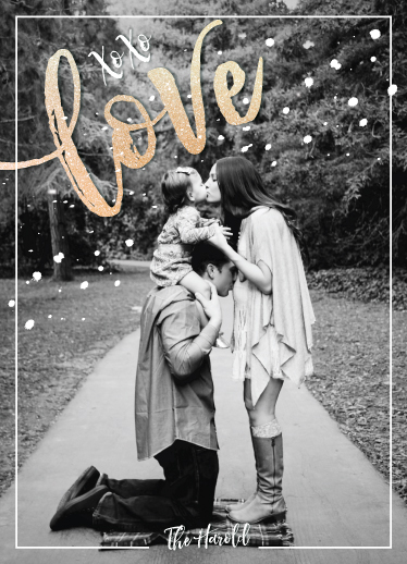 holiday photo cards - XoXo for Love by Becky Harold