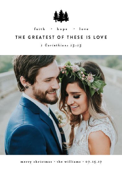holiday photo cards - Greatest is Love by Amy Payne
