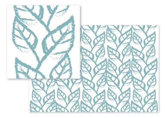 fabric - Leaves in Line by Hanim Esham