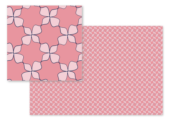 fabric - Indigo petal chain by raven erebus