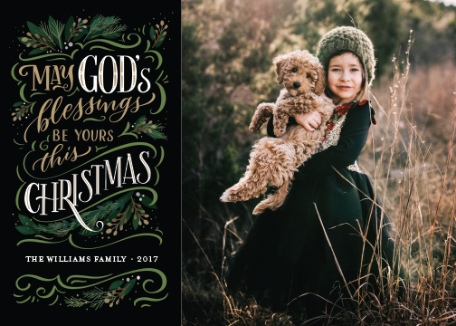 holiday photo cards - God's Blessings by Laura Bolter Design