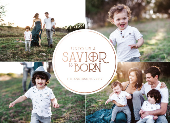 holiday photo cards - A Savior is Born by Bethany McDonald