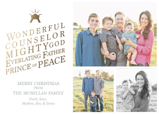 holiday photo cards - Wonderful Counselor by Caralea Wilson