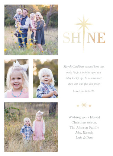 holiday photo cards - Shine by Caralea Wilson