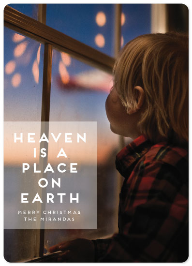 holiday photo cards - Heaven is a Place on Earth by Emma Marson