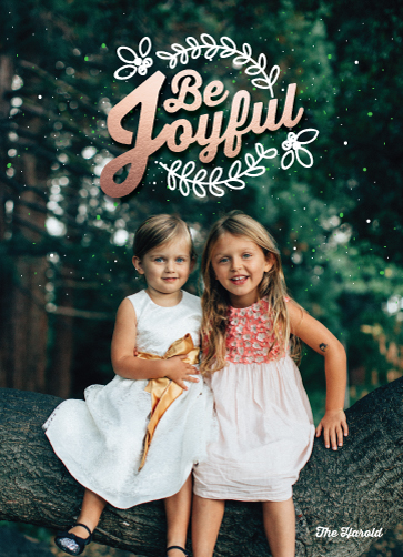 holiday photo cards - Be Joyful by Becky Harold