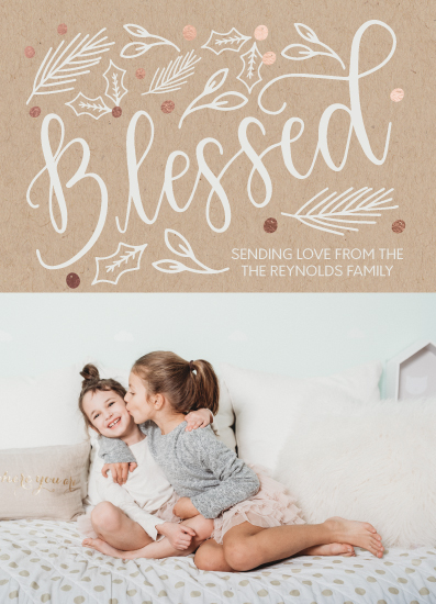 holiday photo cards - Blessed Foil by Jordyn Alison Designs