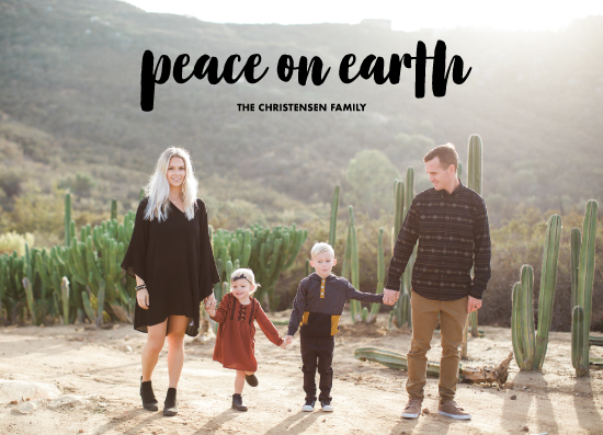 holiday photo cards - peace by Brittany Nixon