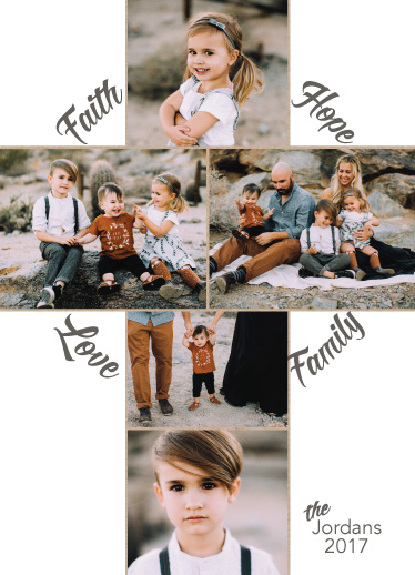 holiday photo cards - Faith Hope Love Family by Kate Pitner