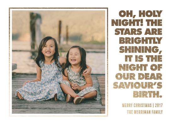 holiday photo cards - O HOLY NIGHT - STARS ARE SHINING by JOHANNA PURMORT