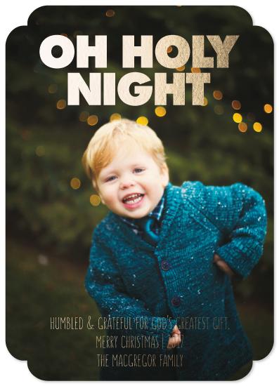 holiday photo cards - HUMBLED & GRATEFUL by JOHANNA PURMORT