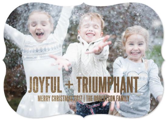 holiday photo cards - JOY, JOY, JOY by JOHANNA PURMORT