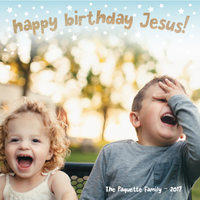 holiday photo cards - Happy Birthday Jesus by Kate Pitner