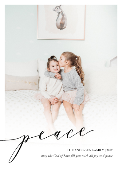 holiday photo cards - simple peace by Brittany Nixon