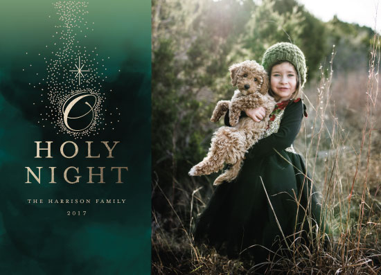 holiday photo cards - It's a holy night by iamtanya