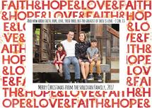 Faith Hope Love Waterco... by Angela Sullivan