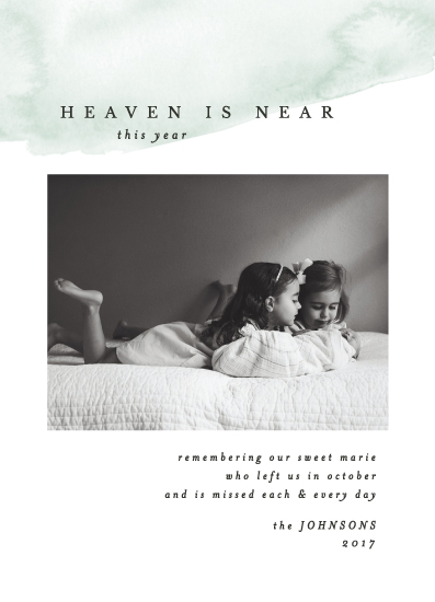 holiday photo cards - Heaven is Near by Erin L. Wilson
