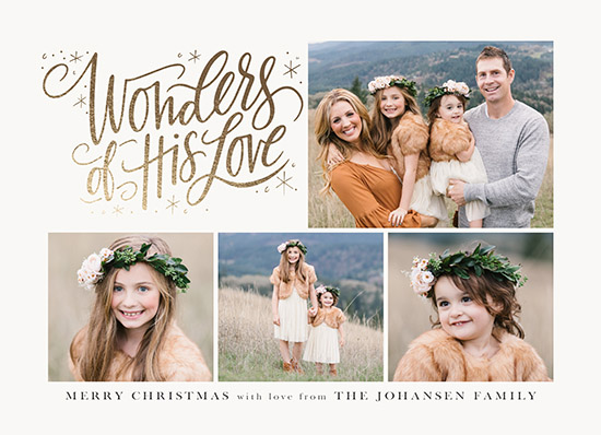 holiday photo cards - Wonders of His Love Collage by Jamie Schultz Designs