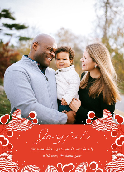 holiday photo cards - Merry Berry Joyful by Paper Raven Co.