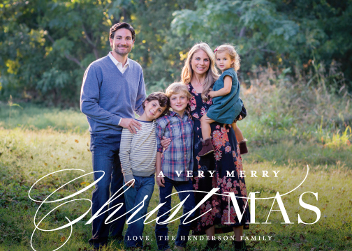holiday photo cards - True Meaning by Lauren Chism
