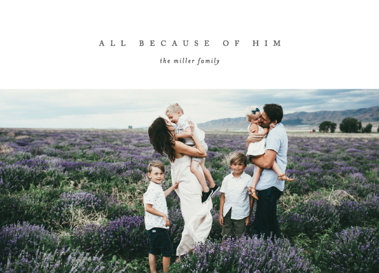 holiday photo cards - All Because of Him by Erin L. Wilson