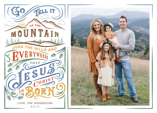 holiday photo cards - Go Tell it on the Mountain by Paper Sun Studio