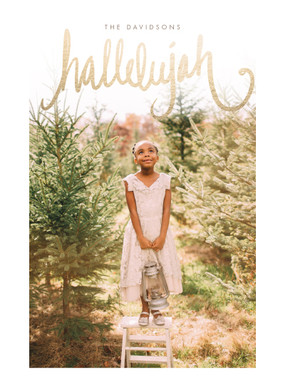 holiday photo cards - Hallelujah in the Highest by CaroleeXpressions