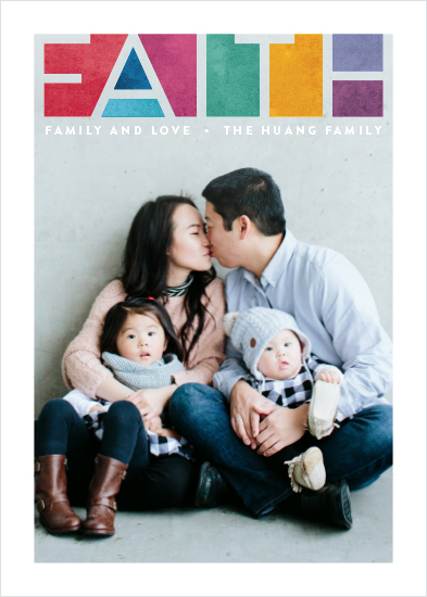holiday photo cards - Prismatic Faith by Hooray Creative