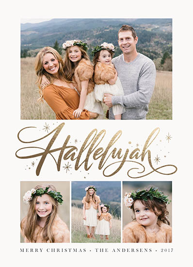 holiday photo cards - Hallelujah Burst by Jamie Schultz Designs