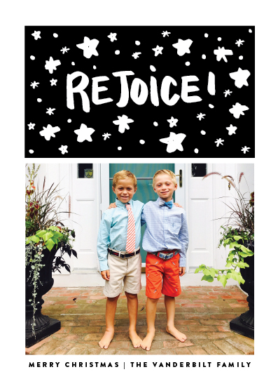 holiday photo cards - Happily Rejoice by Up Up Creative
