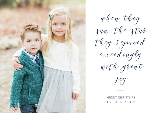 holiday photo cards - with great joy by Brittany Nixon