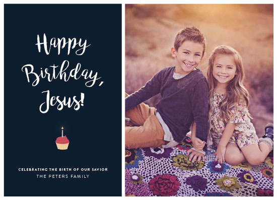 holiday photo cards - Birthday Cupcake by Becca Thongkham