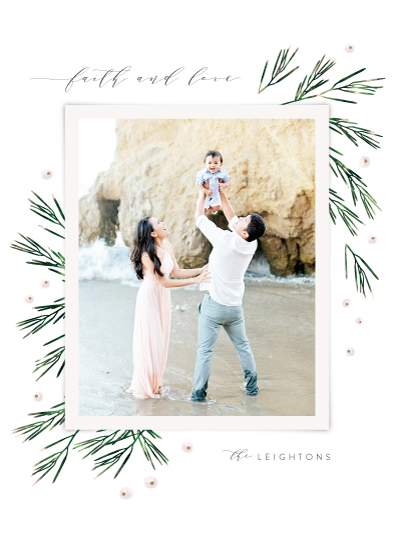 holiday photo cards - Fresh Winter Greens by Kristie Kern