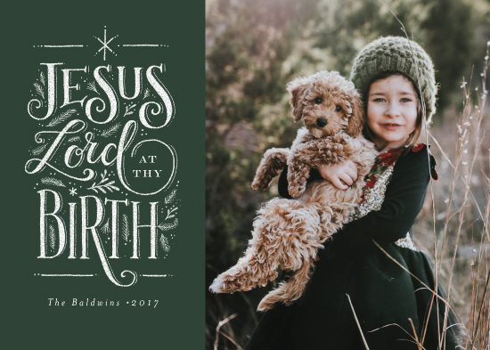 holiday photo cards - Jesus Lord at thy birth by Jennifer Wick